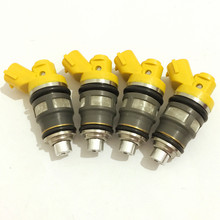 4xE85 high performance quality Flow matched 650cc side feed Fuel injectors for Toyota Supra 1JZ-GTE 2JZ-GTE subaru impreza wrx