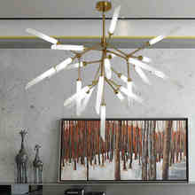 N Creative Branch Arts Pendant Light lamp Modern Italian Design Personality Living Room suspension luminaire suspendu Fixtures(China)