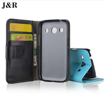 J&R Leather Case For Samsung Galaxy Ace Style LTE G357FZ Ace 4 G357 Flip Cover Wallet with Stand and ID Card Holder 9 Color 4.3""