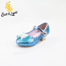 2016 new girls fashion shoes with pearl Korean princess girls high quality party sandals children's High-heeled shoes