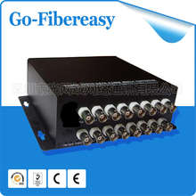 100% New CCTV Mini16Channels Fiber Optic Video Converter 16ch Video to Fiber optic Multimode 550M FC connector