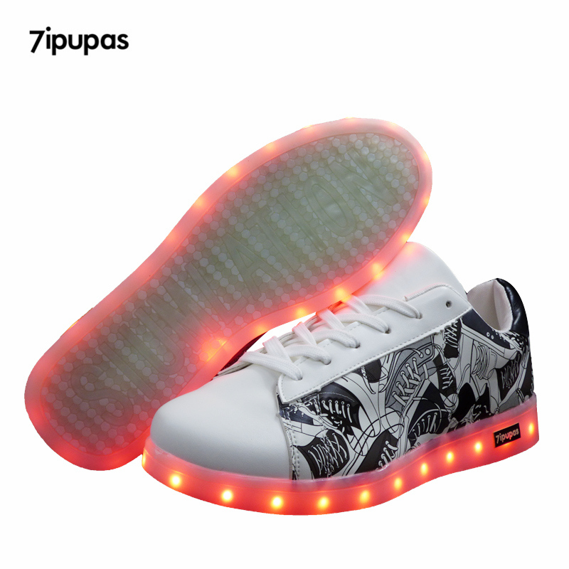 Luminous Sneakers/USB Student Child Shoes With Light Up Sole For Kids Boys&Girls Basket Led Enfant Glowing sneaker Led Feminino