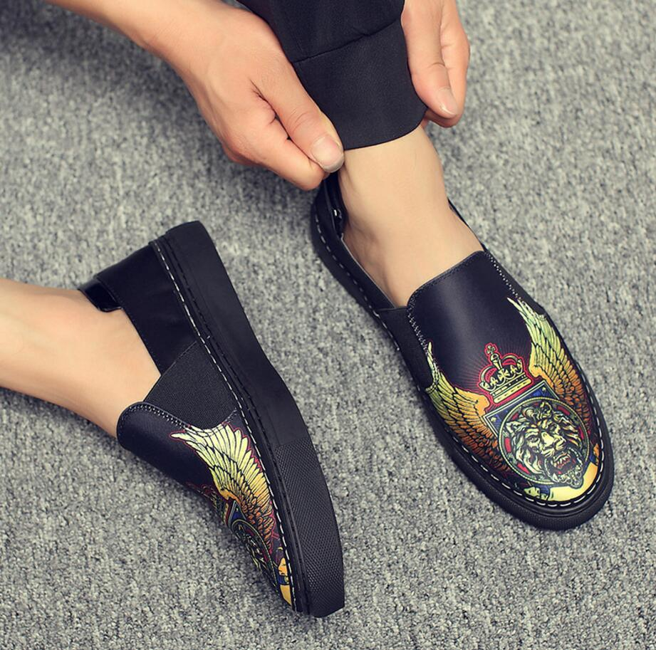 Shoes Bright New One-legged Lazy Shoes Leather Casual Loafers Men Shoes 100% Guarantee Men's Shoes