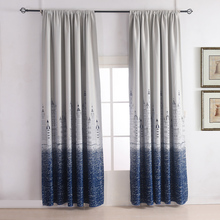 1PC Thermal Insulated Blackout Curtain Printing Castle pattern, Kids Curtains Block out 85% of sunlight