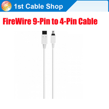 Genuine 9-Pin to 4-Pin Firewire Cable 6ft 1.8M FireWire 800 IEEE 1394 cable(China)