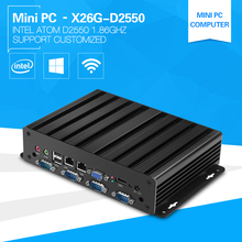 Industrial Mini PC with D2550 Atom 1.86GHz Dual Core Four Treads Desktop Computer Barebone 2*Com Port 2*Lan support 2*Displays
