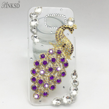 Buy Hot New Luxury 3D Peacock Bird bling Crystal Rhinestone diamond Mobile phone case iphone 6plus 7 7plsu hard skin back cover for $3.22 in AliExpress store