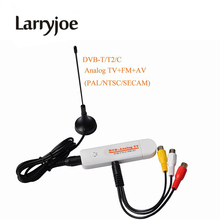 Larryjoe DVB t2 PVR Analog USB TV Stick Tuner Dongle PAL/NTSC/SECAM with Antenna Remote HDTV Receiver for DVB-T2/DVB-C/FM/DVB/AV