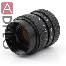 Television TV Lens Suit for C Mount Camera 25mm F1.4 in Black(China)