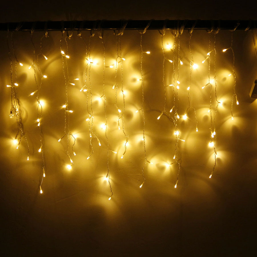 LED Curtain Icicle String Fairy Light 3-24M LED Christmas Garland Indoor Outdoor Party Garden Stage Decorative Lights 110V 220V (27)