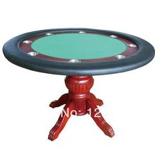 PT-002 Poker table with solid wood leg, deluxe gambling table, Diameter 120CM