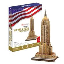 T0467 3D Puzzles Empire State Building DIY Building Paper Model kids Creative gift Children Educational toys Deluxe Edition(China)