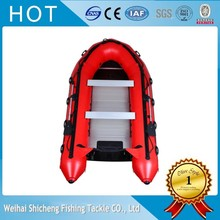 2017 hot sales red Inflatable Boat with Aluminum Floor(China)
