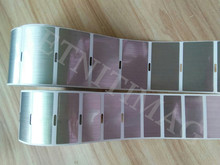 Label Tapes Stripes Brushed Silver PET Label 75X42mm*500 Sheets 100 U thick blank For Electrical label date number custom print