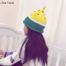 Baby Cap Toddler Kids Watermelon Pattern Knitting Beanie Winter Warm Crochet Hat Cap Capacete Infantil(China)