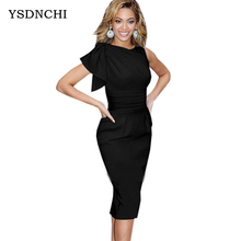2016 Sexy Summer Dresses Women Sleeveless Knitted Slim Vestidos Elegant Ladies Club wear Pencil Female Evening party Dress S117
