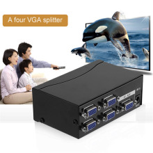 Professional Video Switch Splitter 2/4 Port VGA SVGA Video HD Signal Amplifier Booster Splitter Sharing Box for PC EB