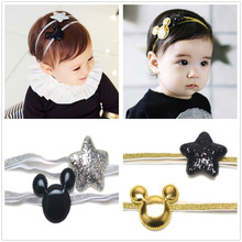 2pcs/ set newborn headbands hair accessories for children flower elastic baby girl hairbands turbant headwear kids ornaments