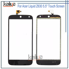 For Acer Liquid Z630 Touch Screen Black New 5.5 inch Digitizer Glass Sensor Lens Repartment For Acer Liquid Z630 Mobile Phone(China)