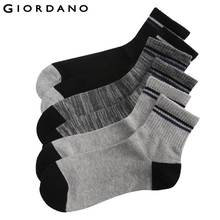 Giordano Men Socks 3-pack Ribbed Top Crew Socks Sokken Chaussettes Pour Hommes Dress Sock for Man Famous Brand Meias(China)
