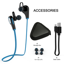 Bluetooth Earphone Headphone Q9 Microphone Stereo Wireless Sports Headset Bluetooth 4.1 for Xiaomi Iphone smart watch A1 DZ09(China)