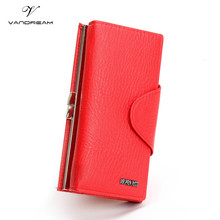 Luxury Famous Brand Clutch wallet black red PU Leather Female Money Long Women Purse Evening phone card holder Bags Hot 2016 !