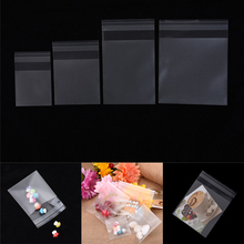 100Pcs Crystal Clear Resealable Poly Cellophane Bag Transparent Small gift Bags Flat Open Top Lollipop Baking Cookie Cellophane