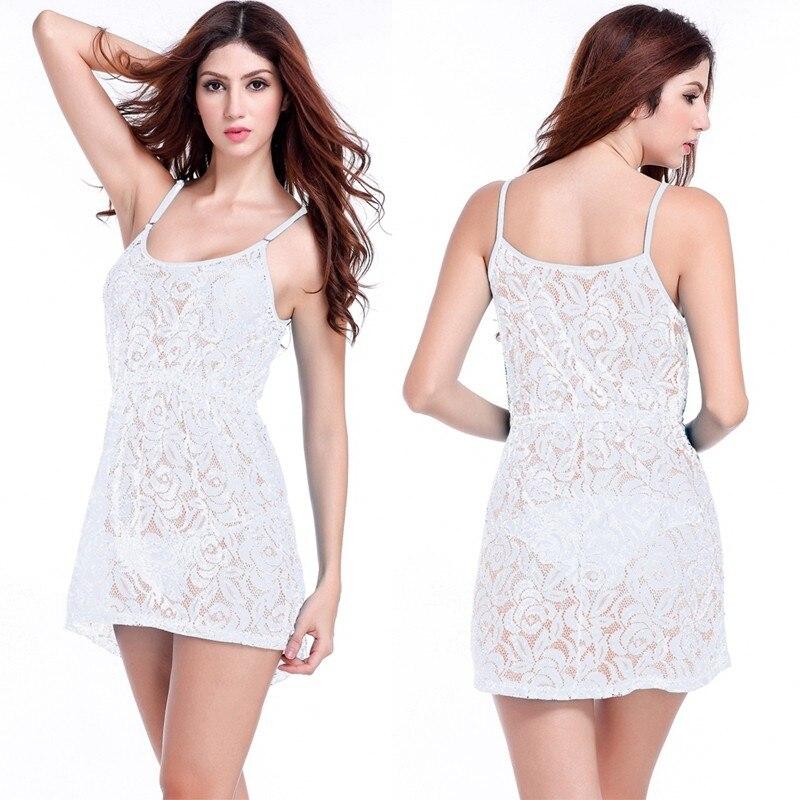 17 Adjustable Spaghetti Dress Tunic for Beach Slim Fit Waist Wrinkle Cover-Ups Sexy Women Plus Size Lace Tunic Beach Dress 4
