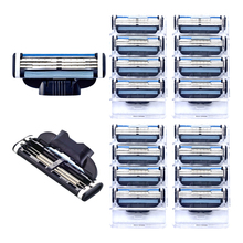 16pcs/pack Quality Grade AAA+ Brand Men Face Shaving Razor Blades Mache 3 Razor Blades For Men Standard For RU&Euro&US