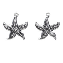 Buy Lucky Eye 10pcs/lot Starfish Charms Tibetan Silver Plated Animal Charms Pendants Jewelry Making DIY Handmade Craft 26*23mm for $1.42 in AliExpress store