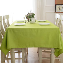 Rural Candy Color 100% Cotton Dining Tablecloth Dustproof Multifunction Table Cover Wedding Hotel Rectangular Decor Tablecloths