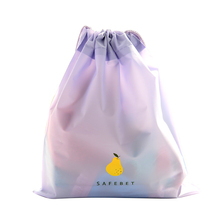 Brand New Cartoon Drawstring Pouch Travel Bags Clothes Storage Finishing Luggage Bags Waterproof Clothing Bag Shoe Bag Purple