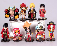 9pcs/set 3.5-7cm Anime One Piece Action Figures Cute One Piece Film Z Figure Toys Dolls(China)