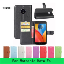 For Motorola Moto E4 Case 5.0 inch Luxury Wallet Flip PU Leather Case Cover For Moto E4 Case Cell Phone With Card Holder Stand
