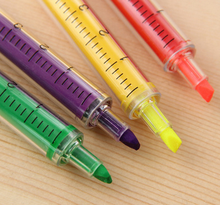 W-Free shipping creative lovely 6 colors needle colorful pen(1piece)