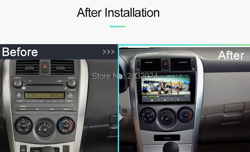 For Toyota Corolla E120 BYD F3 Android 7.1 Quad core RAM 2G 1G 7851 IC 2Din Car DVD stereo GPS with touch screen WIFI Car radio