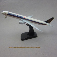 19cm Metal Plane Model Air Singapore Airlines B777 300ER Airplane Model Boeing 777 Airways w Stand Wheels Aircraft  Gift