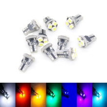 10X T5 3528 Canbus Automobile Speedo Wedge W3W W1.2W Auto LED Car Light Instrument Panel Light Source LED Bulb Interior Lighting