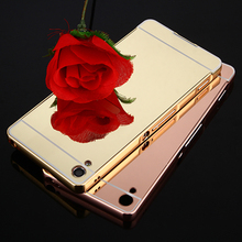 Luxury Metal Aluminum Frame + Mirror Acrylic Back Case For Sony Xperia XA Cases Sony XA Ultra Case X Perfomance Phone Cases caso(China)