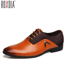 ROXDIA fashion party leather man formal shoes spring autumn for business Male Flat men oxford dress shoes RXM062 size 39-44