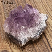 KiWarm 1PC Newest Hot Sale Natural Amethyst Gemstone Cluster Crystal Healing Stone Specimen Collectables For Home Decor Gift(China)