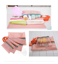 4pcs/lot Portable Polyester Fiber Organizer Bag Foldable HIgh Quality Clothes Socks Make Up Storage Bag Travel Home Sorting Bag(China)