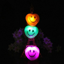 Kids Adults LED Glowing Finger Ring Smile Face Heart Flashing Rings Toys Kids Birthday Jewelry Gift Glow Party Supplies
