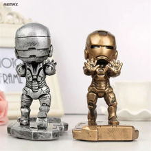 Universal Fashion iron Man Mobile Phone Support Holder For iPhone 6 6S 6 Plus  7 7plus Cute Cellphone Table Stand for samsung mi