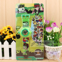 Cartoon Ben 10 can be 24 Pattern Plastic Kid's Digital Projector Watch ,1pcs Children's birthday, Christmas festival best gift(China)
