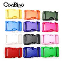 1pcs pack 3/4'' Plastic Colorful Contoured Side Release Buckles Webbing Size 20mm Paracord Bracelets Bag Parts 13 Colors Pick(China)