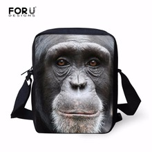 2017 New Mini Animal Monkey Messenger Bags for Men Cool Zoo Boys Kids Crossbody Bags Casual ChildrenTravel Shoulder Bags