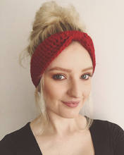 Winter Warmer Ear Knitted Headband Turban For Lady Women Crochet Bow Stretch Hairband Headwrap Hair Accessories