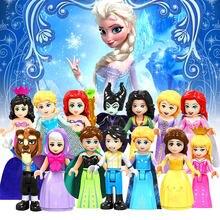 Legoed Disneyes Fairy princess Godmother Maleficen animals tiger lion duplo Building Blocks Toys Figures for children gifts(China)