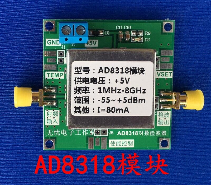 AD8318 module RF power meter log detector power detection (1-8000MHz)<br>